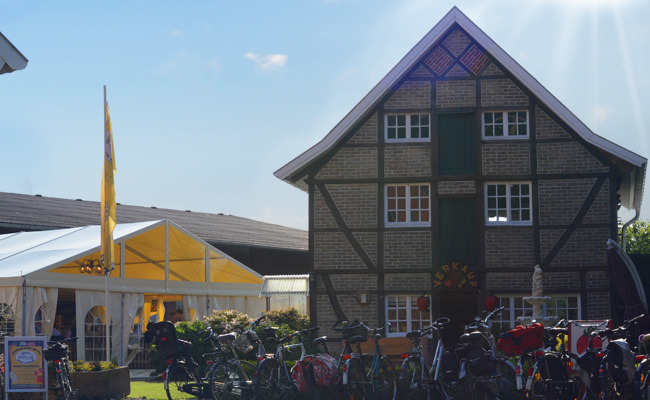 Der Speicher auf dem Erdbeer- und Spargelhof der Familie Bäcker aus Münster